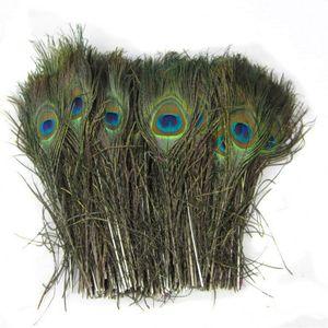 Penas de cauda Natural da pena do pavão reais para festa de casamento enfeites de mesa de alimentação 25 a 30cm Multi Color 0 57yx Z