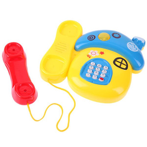 Mushroom Plastic Telephone Toy Kids Early Education with Music Light Music and Sound Telephone Toy for Children