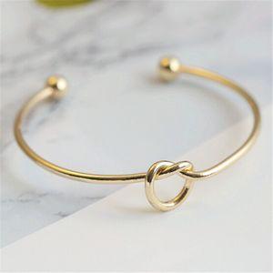 Silber Gold Tone Kupfer erweiterbar Open Wire Bangles für Love Knot Cuff Bracelets Bangle für Kinder und Erwachsene