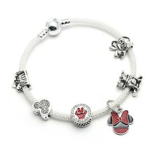 yeni stil Charm bilezik 925 gümüş Charm boncuk Bileklik aksesuarları çocuklar için hediye olarak Dıy Takı