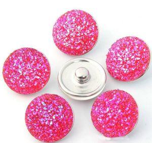 Высокое качество Нуса 18MM Акриловые Металл Snap кнопки Смешанные стили DIY Snaps Подвески ювелирные изделия Установить браслет B115