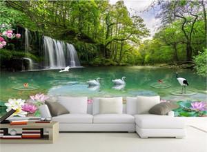 Photo faite sur commande de papel parede 3D fond d'écran 5D 8D paysage vue sur le lac de paysage naturel HD fond d'écran Fairyland