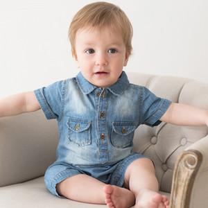 Юмор медведь новые комбинезоны Baby Boy одежда Ковбой комбинезон новорожденный джентльмен стиль повседневная одежда мальчик одежда Детская одежда