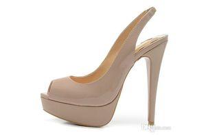 Sexy Frauen Schuhe Braut Roten boden High Heels Marpop Platfrom Keile Sandalen Peep Toe Echtem Leder Sling Zurück Hochzeit Schuhe 35-41
