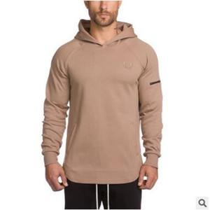 NUEVA ocasional de los hombres sudaderas Camisetas Masculina Hombre capa de culturismo y fitness sudaderas con capucha para hombre del músculo de ropa deportiva
