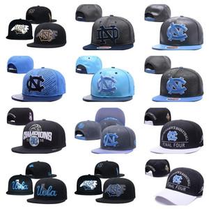 grosso dos homens Carta Alta Qualidade Carolina do Norte NCAA Snapback EUA Colégio Logo Design Inclinação Baseball Design Ossos Adjustable Caps