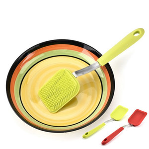 Cepillo de limpieza para expertos Colgante Multifunción Nuevo Silicón Descontaminación Cepillos para lavar platos de acero inoxidable de alta calidad 7 8cx V