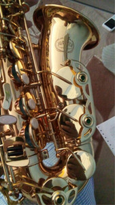 Vendas de Alta Qualidade Instrumento Musical Novo JUPITER JAS-769 Alto Eb Tune Sax Saxofone Laca De Ouro Com Caso Bocal Frete Grátis