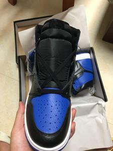 Com Caixa 1 OG Alta Royal branco azul homens tênis de basquete 1 s eu sports sneakers formadores de alta qualidade 5-12 Atacado tamanho 36-46