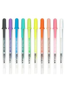 Suministros de escritura Sakura Gelly rollo Souffle color de la tinta del gel de la pluma | Impermeable 3-D opacas Set 10 Plumas
