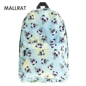 genç kızlar kesesi dos kanvas sırt çantası için MALLRAT Eomji Panda Baskı Sırt Çantası Kadın mochila nécessaire Okul Çantaları BookBag