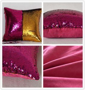 NUOVO Sirena Paillettes Federa con scamosciato indietro Magico Colore scala di pesci Gettare Pillow Cover Luminoso Federa Cuscino Posteriore
