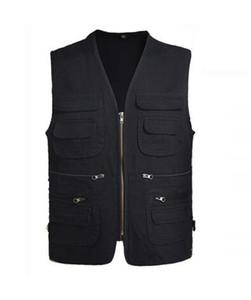 جديد الرجال سترة الرجال colete masculino عارضة شبكة صدرية زائد الحجم 5xl فضفاض متعدد جيوب التصوير سترة الذكور بالجملة