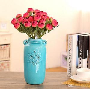 Perle de fleur de simulation de pivoine manuel Bouquet délicat fait à la main Bonheur Fleurs chanceuses pour le mariage exquis Easy Carry 1 8 cc cc