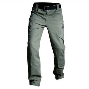IX7 IX9 Taktik Pantolon Askeri Kargo Pantolon Erkekler Rahat Pantolon Iş Pantolon Ordu Tarzı Pantalon Siyah Ince Savaş Baggy Pantolon