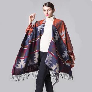 Ruicestai hiver écharpe femme ponchos et capes marque châle en maille enveloppe femme cardigan pull femme echarpe Pashmina