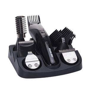 Più nuovo CHJPRO 7 in 1 tagliacapelli elettrico testa intercambiabile uomo grooming kit corpo capelli trimmer rasoio naso barba trimmer