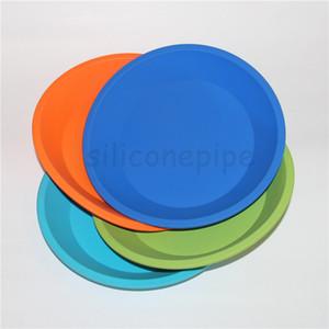 "Prato circular colorido do silicone Bandeja redonda do prato profundo 8 ""X8"" bandeja amigável do silicone do óleo dos concentrados do recipiente do silicone da não-vara da vara do silicone de BHO"