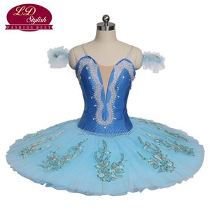 New Arrival Adult Sky Blue Classical Ballet Tutu The Blue Bird Stage Performance Costumes Women Ballet Dance Apperal Girls Ballet Skirt