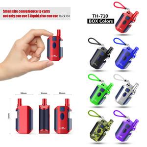Аутентичные Kangvape TH-710 Box Mod Kit E сигареты 650mAh Vape Mods 0.5 мл Vape картриджи 7 холодных цветов для густого масла нормальной электронной жидкости