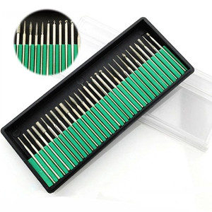 Diamond Nail Polishing Needle Nail Art Tool Kits Mini Drill Bits Rotary Grinding Head Carving For Manicure Pedicure