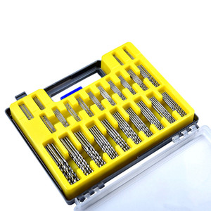 бесплатная доставка DIY 150 шт. сверла миниатюрный отверстие открывалка комплект для ручной деревообработки размер 0,4 до 3,2 мм пластиковая коробка пакет