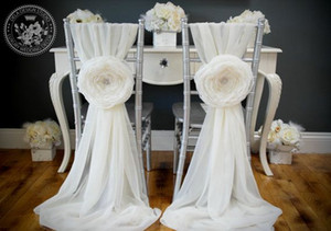 Perni in chiffon di alta qualità Nuovo arrivo 3D Coprisedie floreali per sedie Vintage telai per sedie 2018 Forniture di nozze