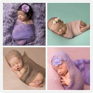 Baby Photography Puntelli Avvolgere Swaddle Neonato Stretch Stretch Wrap Blanket Parisarc Biancheria da letto Sleepsacks Sciarpe Baby Newborn Puntelli Foto
