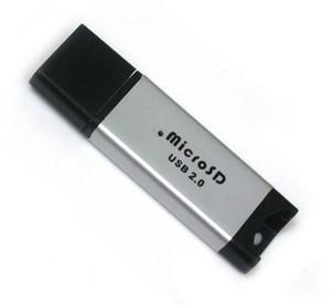 Алюминиевый сплав USB 2.0 TF T-Flash MicroSD кард-ридер писатель адаптер высокое качество быстрый корабль