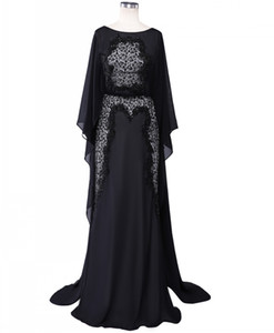 Real Beaded Lace Elie Saab Evening Dresses Long Black Formal Party Dresses Dubai Arabic Chiffon Mother of the Bride Gowns