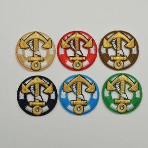 30PCS/몫 혼합 색깔 DIY 기술 꿰매는 도매를위한 헝겊 조각에 의하여 수를 놓는 둥근 닻 로고