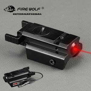 FOGO WOLF Caça Compacta Tactical Red Dot Mira Laser Com Interruptor de Pressão 20mm Picatinny Rail Mount