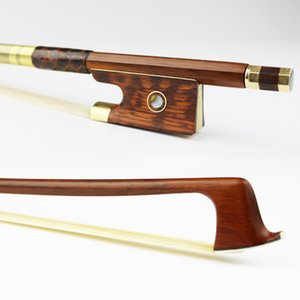 NEW 4/4 Tamanho Pernambuco Arco de Violino Snakewood Sapo Natural Mongolian Cabelo cavalo Partes Violino Acessórios Frete Grátis
