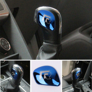 Shift AEING engranaje del coche pomo del cambio de cubierta de la cabeza de I pegatinas Símbolo para VW Volkswagen Golf 7 Golf MK7 5 6 B5 Passat
