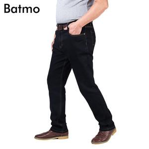 Batmo 2018 nouvelle arrivée de haute qualité coton casual classique droite jeans noirs hommes, plus-taille 30-48 NZ9887