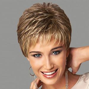 8inches Frauen arbeiten reizvoller Synthetic Fluffy leicht lockige wellenförmige Frauen-Perücken kurzer, krauses Haar Perücke Haar