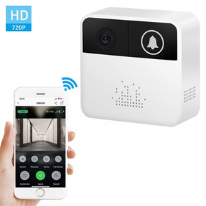 32GB Smart Video Door HD 720p WiFi inalámbrico Anillo de la cámara de video Cámara de seguridad para el hogar Cámara de seguridad en el hogar Talk y video de dos vías en tiempo real para iOS Android