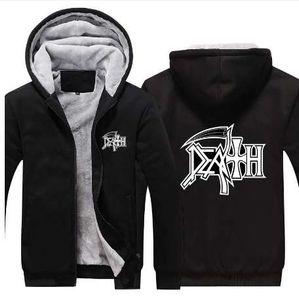 Neu!! Tod Hoodies Rock Band Heavy Metal Hoodie Sweatshirt beiläufigen Mann Mantel Jacke Männer Hoodies Sweatshirts Hoody