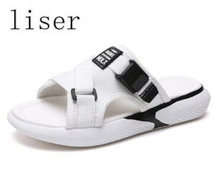 LISER Fisch-Mund-Riemen Hausschuhe Sandalen Frauen Schuhe Sommer Rutschen Plattform Hausschuhe Flip Flop Female Beach Flachen Sandalen Schuhe