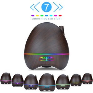 300ml Aroma Essential Oil Diffuser Ultrasonic Air Humidifier with Wood Grain 7Color Changing LED Lights for Office Home
