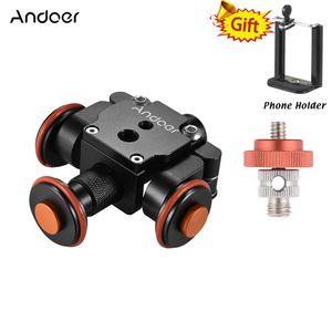 venta al por mayor eléctrico motorizado de 3 ruedas Video Polea coche Dolly Rolling Track Slider Skater para Canon Nikon Sony para iPhone para GoPro