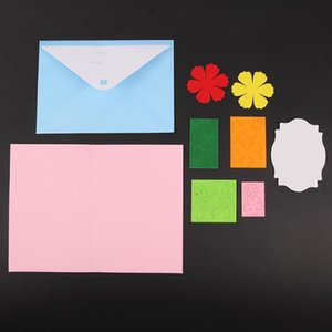 Kids DIY EVA Greeting Card Blank Felt Handmade Gift DIY Art Craft Kit Kindergarten Intelligence Developmental Toys Gift