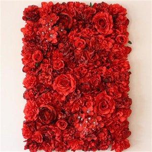 Моделирование Красная Роза искусственные гортензии поддельные цветок взвод свадебная церемония украшены обратно Земля стены Smalleasy нести 40mt cc