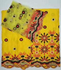 Tissu brodé Dubai Swiss Voile Lace 100% coton 2018 Tissu Simple Designs African Lace Fabrics Tissu Haute Qualité Swiss Lace
