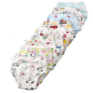 À Prova D 'Água 6 Camada de Gaze Reutilizável Bebê Infantil Potty Formação Calças De Algodão Fraldas Roupa Interior Da Criança Kd Aprendizagem De Fralda (6 Pcs)