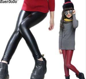 PU 여자 레깅스 여자 아이를위한 봄 가을 레깅스 스키니 팬츠 Kids Leggins Teenager Trousers 8 10 12 년