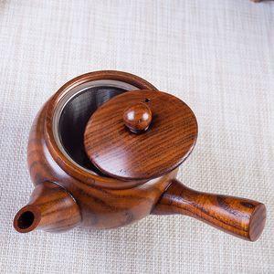 Bule De Madeira Natural Estilo Japonês Pote De Chá Retro criativo Longo Lidar Com Teapots Coador ofício presente Chá Ferramenta