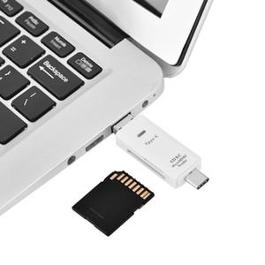 متعددة الوظائف 3 في 1 USB 3.1 نوع C + USB + مايكرو USB منفذ OTG قارئ بطاقة الذاكرة ل TF / Micro SD / بطاقة SD
