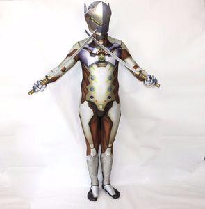 watch over Zentai Kostüm Halloween Erwachsene Kostüm Cosplay Lycra genji Kleidung Bodysuit Anzug