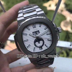 10 цветов Спорт 5726 / 1A-01 Nautilus 5726 / 1A-001 Мужские Автоматические часы 5726/1 Moon Phase 316L SS Hand высокого качества DayDate мужские часы